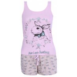 Beżowo - różowa piżama zając PRIMARK