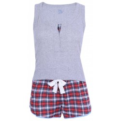 Szara piżama w kratkę PRIMARK. ATMOSPHERE
