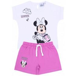 Biała bluzka + różowe spodenki Minnie Mouse DISNEY