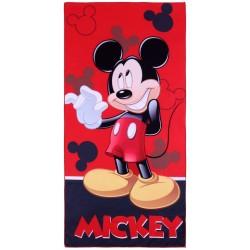 Czerwono-czarny ręcznik Myszka Mickey DISNEY