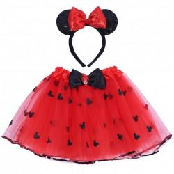 Czerwona tiulowa spodniczka + opaska Minnie DISNEY