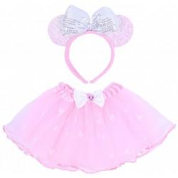 Różowa tiulowa spódniczka + opaska Minnie DISNEY
