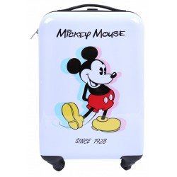 Biała walizka podróżna, kabinowa Mickey DISNEY