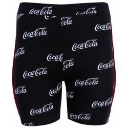 Czarne leginsy przed kolano Coca-Cola