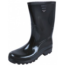 Men, Black, PVC, Wellies, Wellington, Rain Boots GRAND BLACK HOBBY DEMAR