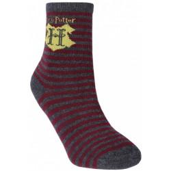 Szaro-bordowe skarpetki męskie Harry Potter
