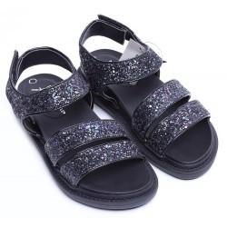 Czarne, brokatowe sandały PRIMARK ATMOSPHERE