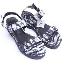 Czarno-białe sandały na platformie PRIMARK ATMOSPHERE