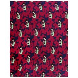 Granatowo-burgundowy koc Mulan DISNEY 120X150