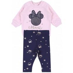 Pink Sweatshirt & Navy Blue Legging Set For Baby Girls MINNIE MOUSE DISNEY