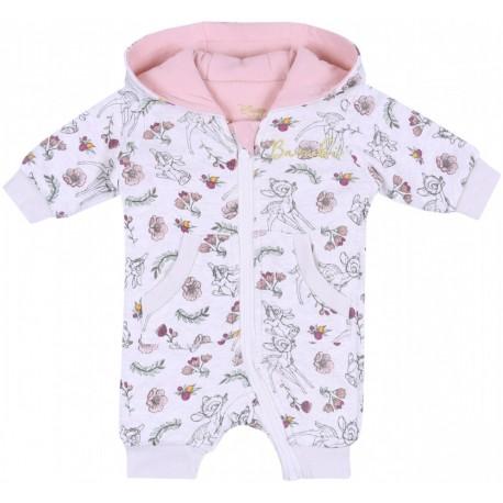 Beżowo-różowy  kombinezon niemowlęcy Bambi DISNEY