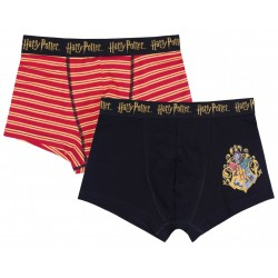 2x Czarno-czerwone bokserki HARRY POTTER