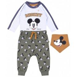 Szaro-zielony zestaw niemowlęcy Mickey DISNEY