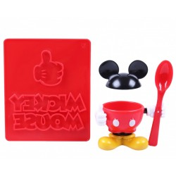Podstawka na jajko+stempel do tostów Mickey Disney