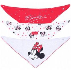 3x Biało-czerwony śliniak Myszka Minnie DISNEY