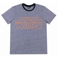 Ciemnoszara koszulka/t-shirt męski Star Wars