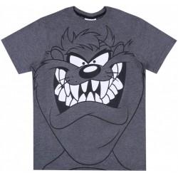 Ciemnoszary t-shirt męski Diabeł Tasmański
