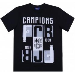 Czarny męski t-shirt FC BARCELONA