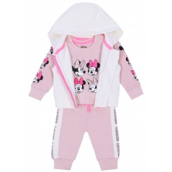 Różowo-kremowy dres niemowlęcy Minnie Disney