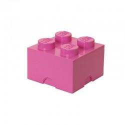 Różowy pojemnik na drobne zabawki klocek LEGO