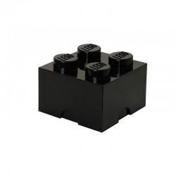 Czarny pojemnik na drobne zabawki KLOCEK LEGO
