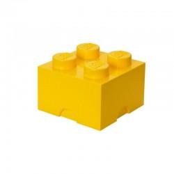 Żółty pojemnik na drobne zabawki KLOCEK LEGO