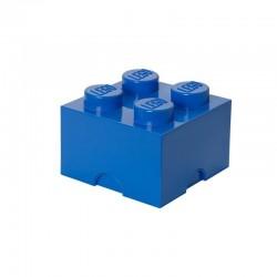 Niebieski pojemnik na drobne zabawki KLOCEK LEGO