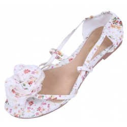 Sandały, japonki z kwiatkiem Primark Atmosphere
