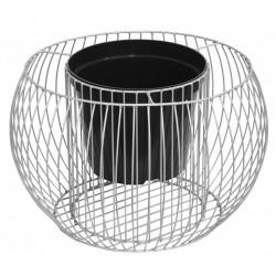 Okrągła donica gabionowa/stalowa