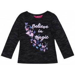 Grafitowa bluzka z kwiatami YD PRIMARK