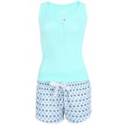 Seledynowa piżama, wzorki PRIMARK ATMOSPHERE
