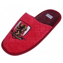 Męskie, czerwone kapcie z herbem domu Gryffindor Harry Potter