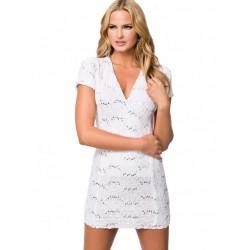 ASOS koronkowa, biała sukienka mini z cekinami