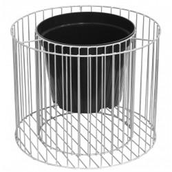 Gabion/steel pot, AMBER cylinder