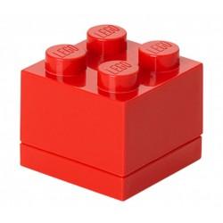 Czerwone minipudełko klocek 4 LEGO