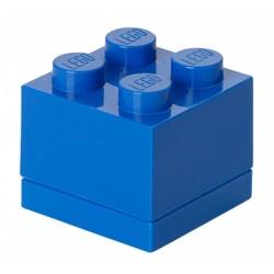 Niebieskie minipudełko klocek 4 LEGO