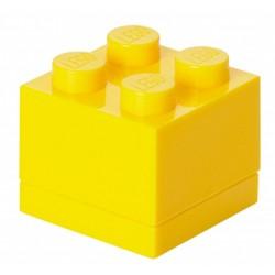 Żółte minipudełko klocek 4 LEGO