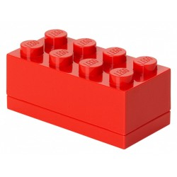 Czerwone minipudełko klocek 8 LEGO