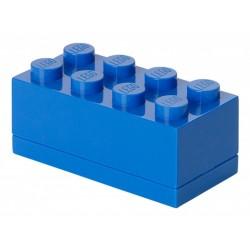 Niebieskie minipudełko klocek 8 LEGO