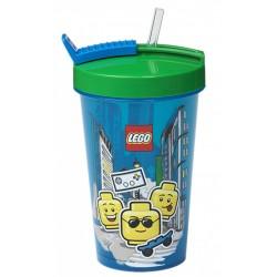 Kubek ze słomką Boy LEGO 500ml