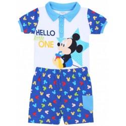 Weiß-blauer Jungenset,Polo T-Shirt+kurze Hose, Mickey Mouse Disney