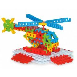 Plastikowe klocki konstrukcyjne, Duże Waffle- helikopter MARIOINEX
