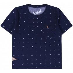 Granatowa koszulka t-shirt PRIMARK REBEL