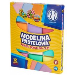 Modelina pastelowa 12 kolorów ASTRA