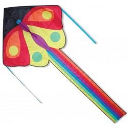 Kolorowy, duży latawiec z ogonem MOTYL