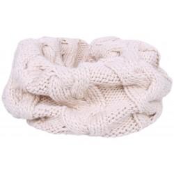 Warm, light beige tube scarf