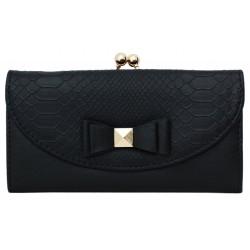 Czarny portfel z kokardką PRIMARK ATMOSPHERE