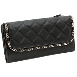 Czarny pikowany portfel XL PRIMARK ATMOSPHERE