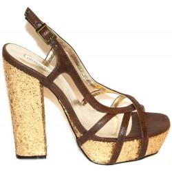 WYSTRZAŁOWE Złote sandały PRIMARK ATMOSPHERE