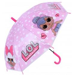 Różowa,dziewczęca parasolka w gwiazdki L.O.L. SURPRISE